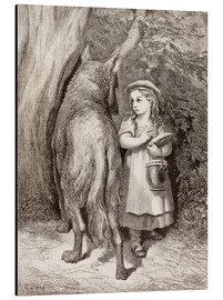 Cuadro de aluminio  Scene From Little Red Riding Hood By Charles Perrault - Gustave Doré