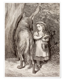 Póster Scene From Little Red Riding Hood By Charles Perrault
