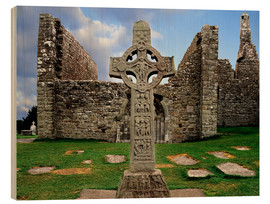 Cuadro de madera  Clonmacnoise en Irlanda - The Irish Image Collection