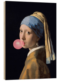 Madera  The Girl with a Pearl Earring (gum) - Jan Vermeer