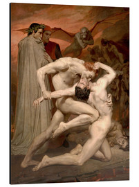 Aluminio-Dibond  Dante and Virgile - William Adolphe Bouguereau