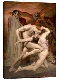 Lienzo  Dante y Virgilio - William Adolphe Bouguereau