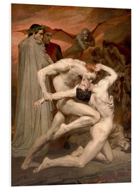 Cuadro de PVC  Dante y Virgilio - William Adolphe Bouguereau