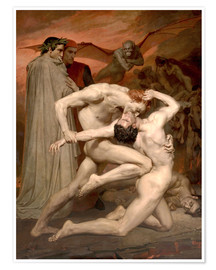 Póster  Dante y Virgilio - William Adolphe Bouguereau