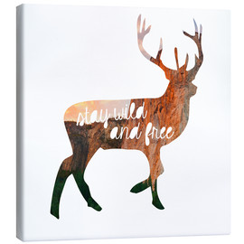 Lienzo  Deer - stay wild and free - GreenNest