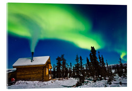 Cuadro de metacrilato  Northern Lights over a hut - Kevin Smith