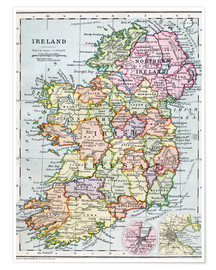 Póster  Irish Free State And Northern Ireland - Ken Welsh