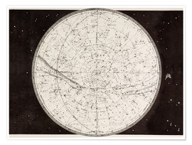 Póster  Map Of The Northern Heavens - Ken Welsh