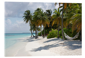 Cuadro de metacrilato  Tropical beach with a hammock - Circumnavigation