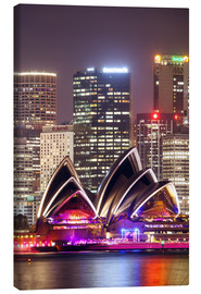 Lienzo  Sydney Opera house at night - Matteo Colombo