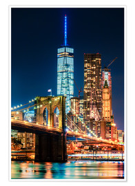 Póster  New York City Landmarks - Sascha Kilmer