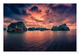Póster  Sunrise over Halong Bay - Stefan Becker