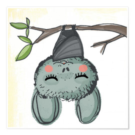 Póster  Bat Livia chills - Little Miss Arty