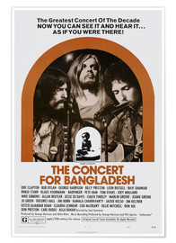 Póster  THE CONCERT FOR BANGLADESH