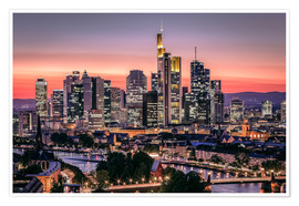Póster  Skyline Frankfurt am Main Sundown - Frankfurt am Main Sehenswert