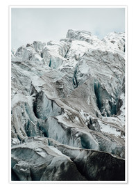Póster  Closeup view of glacier above Saas Fee, Switzerland - Peter Wey