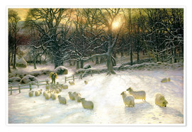 Póster  The Shortening Winter's Day is Near a Close - Joseph Farquharson