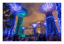 Póster  Supertrees, Singapore, Asia - Peter Schickert