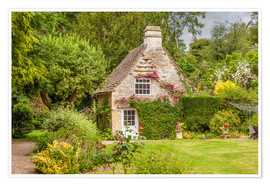 Póster Idyllic cottage in Wiltshire (England)