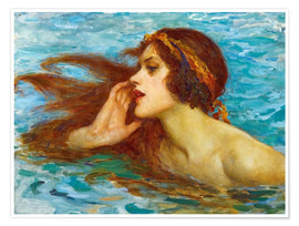 Póster  A little sea maiden - William Henry Margetson