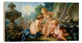 Cuadro de madera  Angels in the Game - François Boucher