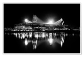 Póster  Weserstadion en blanco y negro - Tanja Arnold Photography