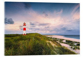 Cuadro de metacrilato  Lighthouse in the morning light (Sylt / Elbow / List East) - Dirk Wiemer