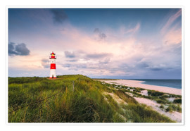Póster Lighthouse in the morning light (Sylt / Elbow / List East)