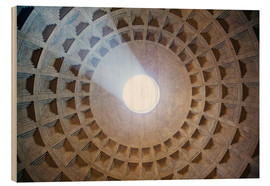 Cuadro de madera  Ceiling of the Pantheon temple, Rome - Matteo Colombo