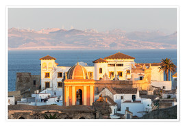 Póster  Strait of Gibraltar and town of Tarifa at sunset, Andalusia, Spain - Matteo Colombo