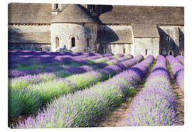 Lienzo  Famous Senanque abbey with its lavender field, Provence, France - Matteo Colombo