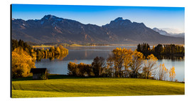 Cuadro de aluminio  Lake in Bavaria with Alps - Michael Helmer