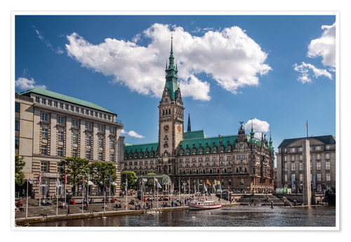 Póster Town hall of Hamburg