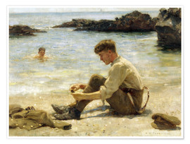 Póster  Lawrence el cadete en Newporth beach - Henry Scott Tuke