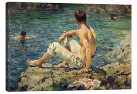Lienzo  Green and Gold - Henry Scott Tuke