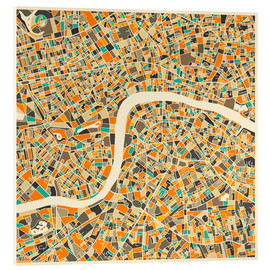 Metacrilato  Mapa de Londres - Jazzberry Blue