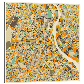Cuadro de aluminio  New Delhi Map - Jazzberry Blue