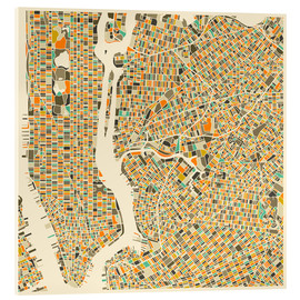 Metacrilato  New York City Map - Jazzberry Blue