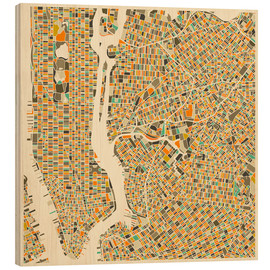 Madera  New York City Map - Jazzberry Blue