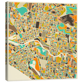 Lienzo  Melbourne Map - Jazzberry Blue
