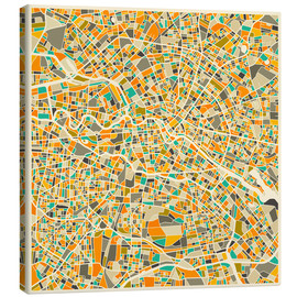 Lienzo  Mapa de berlin colorido - Jazzberry Blue