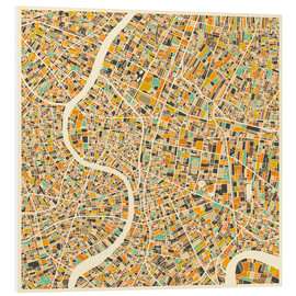 Cuadro de PVC  Bangkok Map - Jazzberry Blue