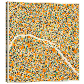 Lienzo  Paris Map - Jazzberry Blue
