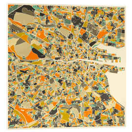 Cuadro de metacrilato  Dublin Map - Jazzberry Blue
