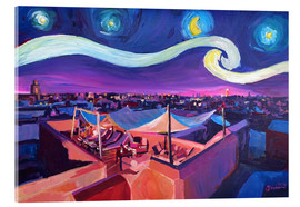 Cuadro de metacrilato  Starry Night in Marrakech   Van Gogh Inspirations on Fna Market Place in Morocco - M. Bleichner
