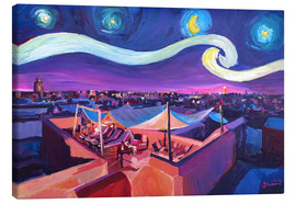 Lienzo  Starry Night in Marrakech   Van Gogh Inspirations on Fna Market Place in Morocco - M. Bleichner