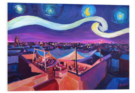Cuadro de PVC  Starry Night in Marrakech   Van Gogh Inspirations on Fna Market Place in Morocco - M. Bleichner