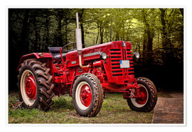 Póster  Viejo tractor McCormick - Peter Roder