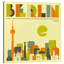 Aluminio-Dibond  Berlin Skyline - Jazzberry Blue