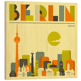 Madera  Berlin Skyline - Jazzberry Blue